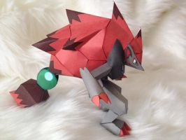 Zoroark Papercraft Model by Toriroz