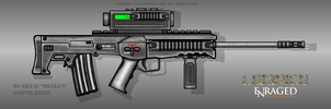 Fictional Firearm: HC-SR24E Sniper Rifle [Draken] by CzechBiohazard