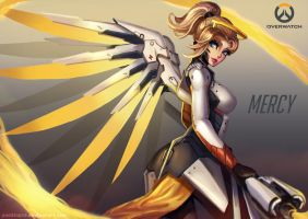 Mercy, Overwatch Fanart by PuddingzZ