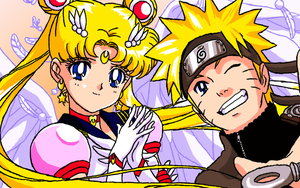 Sailor Moon + Naruto by TonicShadow