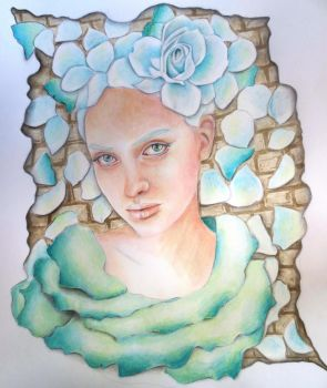 coloured pencil and watercolour by JessicaJMiller