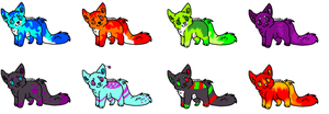 puppy adopt batch (open) by neon-wolf-fun