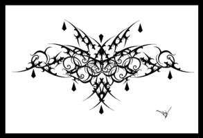 Gothic Lace Print Filigree 007 by Quicksilverfury
