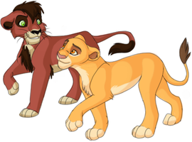 Kiara and Kovu by Kainaa