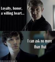 Loyalty, honor, a willing heart... 2nd Version by Aine0686