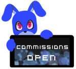 PC - Bubble Commissions Open Stamp by Ink-cartoon