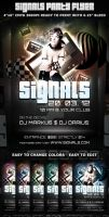 Signals Party-Club Flyer Template by Hotpindesigns