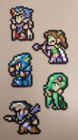 Final Fantasy IV final party perlers by lilacmoogle