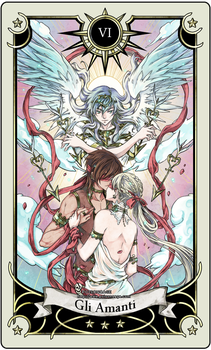 Tarot card 6- the lovers by rann-poisoncage