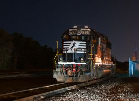 NS B55 tied down in the yard by wolvesone