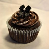 Chocolate Bow Cupcake 1 by JustLexa