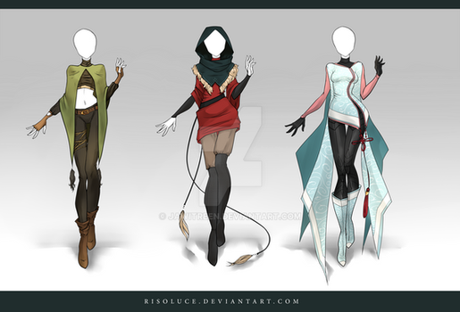 (CLOSED) Adoptable Outfit Auction 91-93 by JawitReen