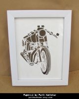 Papercut Art - Bike by ParthKothekar