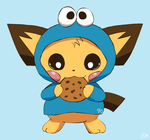 Cookie Monster Pichu by pichu90