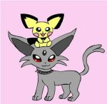 Sonny's Espeon and Pichu by darkkitten103