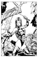 Psylocke Inks by devgear