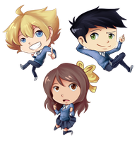 My chibified OCs by JJbananasaur