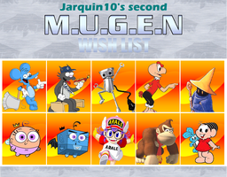 My second MUGEN wishlist by Jarquin10