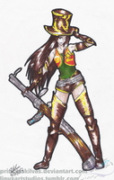 Sheriff Caitlyn doodle by PrincessKilvas