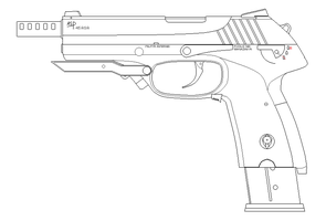 ASP .45 MP Internal Army by SixthCircle