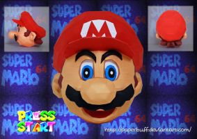 SM64 Mario's Head Papercraft by PaperBuff