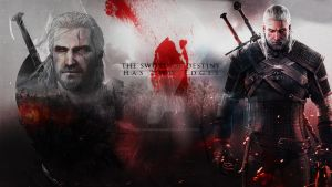 WALLPAPER - Geralt of Rivia, The Witcher by GothicBrokenBabe