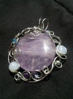 Amethyst freeform pendant by BacktoEarthCreations