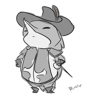 Hedgehog musketeer by renzus