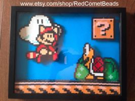 Super Mario Brothers 3 Shadow Box (3D) by HaleysRedComet