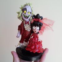 Beetlejuice and Lydia Cake Topper by Christina-Patterson