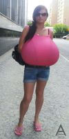 Unknown girl in a pink top by ahaden84