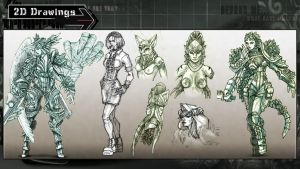 Various Character Designs by Arta