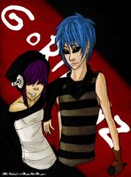 Noodle and 2D by Dark-angel-star