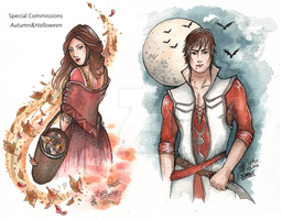 Special COM ~ Autumn and Halloween by Songes-et-crayons