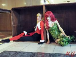 Harley Quinn and Poison Ivy by LeanAndJess