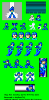 Megaman GB Intro Sprites with NES palette by EnteiTheHedgehog