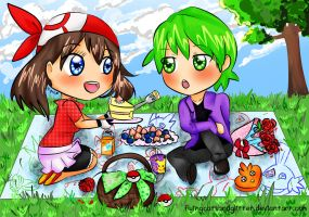 A Picnic with Cake, Roses and Love by FlyingCatsandGlitter