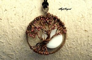 Tree of Life Full Moon pendant by rodicafrunze