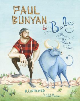 Paul Bunyan and Babe the Blue Ox by heycalebmorris
