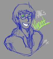 Charity Stream- AMC's Vince Sketch by ElectricEidolon