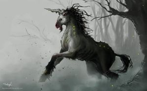 Plague-Breed Unicorn by Spellsword95
