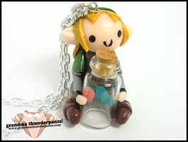 Fairy Bottle Link Necklace by GrandmaThunderpants