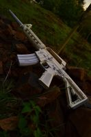 M-16 Rifle Papercraft by suraj281191
