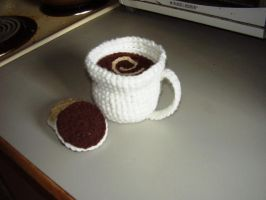 Crochet coffee and cookies by audreydc1983