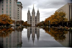 Autumn at Temple Square by Ericseye