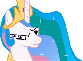 Celestia Of Disapproval (Princess Celestia Vector) by ShadowWeaver97