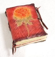 Small journal with a rose by gildbookbinders
