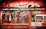 On the Tube by paultheillustrator
