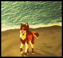 Taking a stroll at the beach.. by Soldjagurl