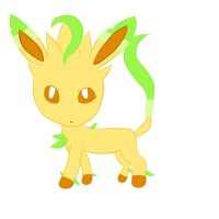 Little Leafeon by 88angelfox